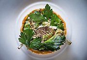 The quail tart with gold leaf Thursday, May 1, 2014 at Topolobampo. (Brian Cassella/Chicago Tribune) B583702539Z.1 <br /> ....OUTSIDE TRIBUNE CO.- NO MAGS,  NO SALES, NO INTERNET, NO TV, CHICAGO OUT, NO DIGITAL MANIPULATION...