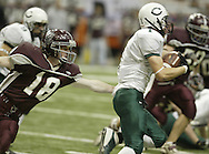 Cornwall's Karl Van Wygerden, right,  breaks away from Nicholas Child of Corning East during a 95-yard kickoff return for Cornwall's first touchdown in the Class A state championship game at the Carrier Dome in Syracuse on Nov. 24, 2006. He scored the touchdown in the first quarter.