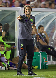 PASADENA, USA - Wednesday, July 27, 2016: Chelsea's manager Antonio Conte during the International Champions Cup 2016 game against Liverpool on day seven of the club's USA Pre-season Tour at the Rose Bowl. (Pic by David Rawcliffe/Propaganda)