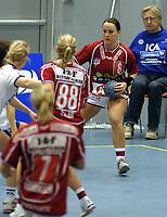 Håndball -  7  januar 2006 , Oppsal Arena  , Europacup , kvinner ,   Nordstrand 2000  v  Ikast - Bording  (24-38)<br /> <br /> Ragnhild Aamodt , Ikast- Bording