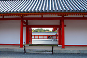 Kyoto Imperial Palace - View through the Jomeimon on Shishinden main hall, Kyoto, Japan