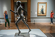 The Running Man, 1978, by Dame Elizabeth Frink and Queen Elizabeth II, 1955, by Pitro Annigoni - The Great Spectacle runs concurrently to the Summer Exhibition and tells the story of the annual show by featuring highlights from the past 250 years.