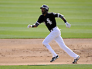 GLENDALE, AZ - MARCH 05:  Alexei Ramirez #10 of the Chicago White Sox runs the bases against the Los Angeles Dodgers on March 5, 2012 at The Ballpark at Camelback Ranch in Glendale, Arizona. The Dodgers defeated the White Sox 6-4.  (Photo by Ron Vesely)  Subject:  Alexei Ramirez