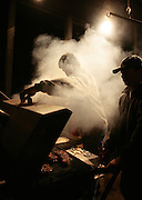 Grilling at the BBQ festival.
