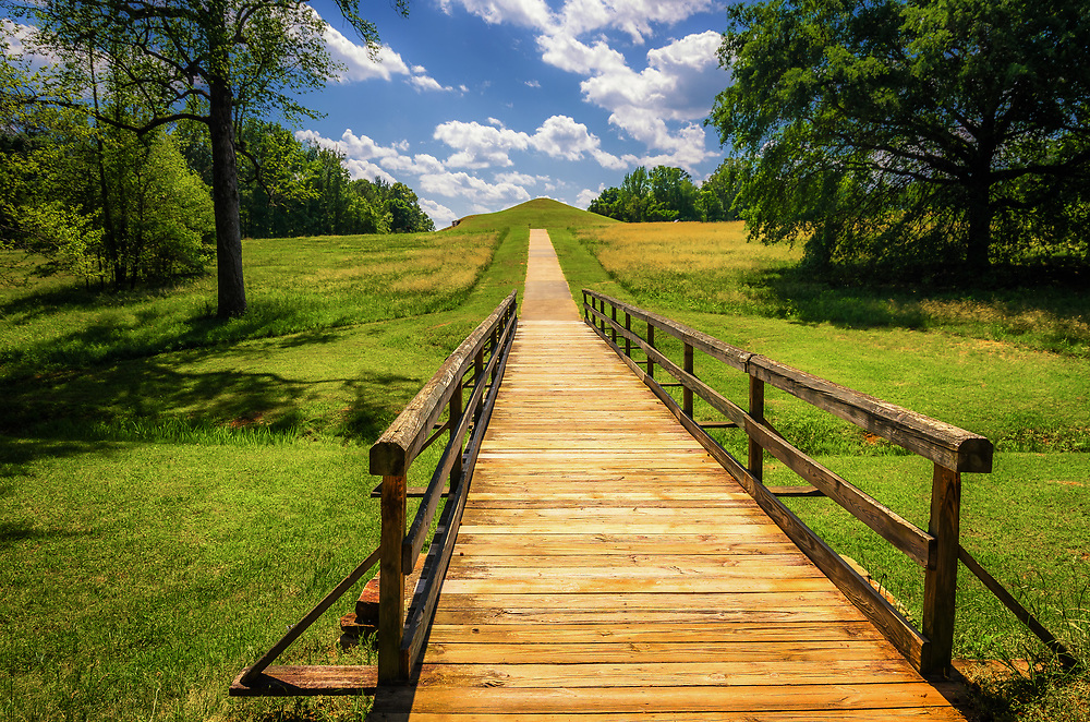 Ocmulgee National Monument preserves traces of Southeastern Native American culture. <br /> The site has evidence of 17,000 years of continuous human habitation within the area.
