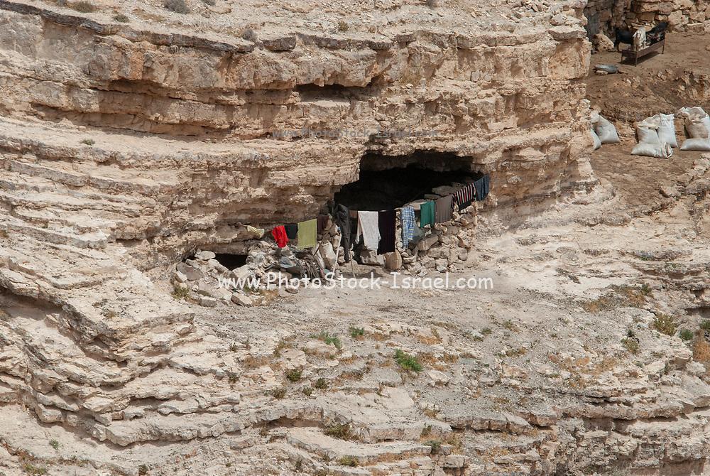 Bedouins living in natural caves, Near Petra, Jordan