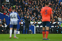 Football - 2019 / 2020 Premier League - Brighton & Hove Albion vs. Everton<br /> <br /> Everton Manager Marco Silva directs from the side lines during the Premier League match at The Amex Stadium Brighton  <br /> <br /> COLORSPORT/SHAUN BOGGUST
