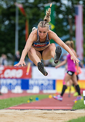 29.05.2016, Moeslestadion, Goetzis, AUT, 42. Hypo Meeting Goetzis 2016, Siebenkampf der Frauen, Weitsprung, im Bild Eaton Brianne Theisen (CAN) // Eaton Brianne Theisen of Canada in action during the long jump event of the Heptathlon competition at the 42th Hypo Meeting at the Moeslestadion in Goetzis, Austria on 2016/05/29. EXPA Pictures © 2016, PhotoCredit: EXPA/ Peter Rinderer