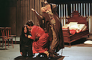 Janet Moran playing  Dona Sabelita in a scene from the Abbey Theatre of Dublin's production of the Barbaric Comedies by Ramon del Valle-Inclan which is being staged at the King's Theatre as part of the Edinburgh International Festival.
