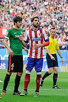 Atletico de Madrid´s Raul Garcia and Athletic Club´s Mikel San Jose during 2014-15 La Liga match between Atletico de Madrid and Athletic Club at Vicente Calderon stadium in Madrid, Spain. May 02, 2015. (ALTERPHOTOS/Luis Fernandez)