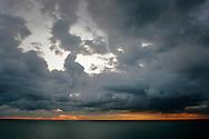 Trieste, tramonto da Santa Croce