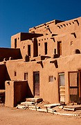 Taos Pueblo is an ancient adobe architectural structure belonging to a Taos-speaking (Tiwa) Native American people. These dwellings can be considered to be one of the oldest continuously inhabited communities in the North America and has been designated a UNESCO World Heritage Site.
