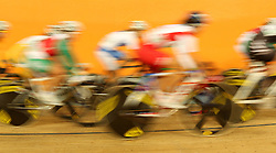 GV during the women's scratch race final held at the velodrome at the Indira Gandhi Sports Complex in New Delhi, India on the 7 October 2010..Photo by:  Ron Gaunt/SPORTZPICS/PHOTOSPORT