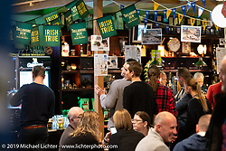 Paddy O'Brien's Old Irish Pub in Winterthur, Switzerland did an amazing job setting up a replica Irish pub in the middle of the convention center for the Swiss-Moto Customizing and Tuning Show. Zurich, Switzerland. Saturday, February 23, 2019. Photography ©2019 Michael Lichter.