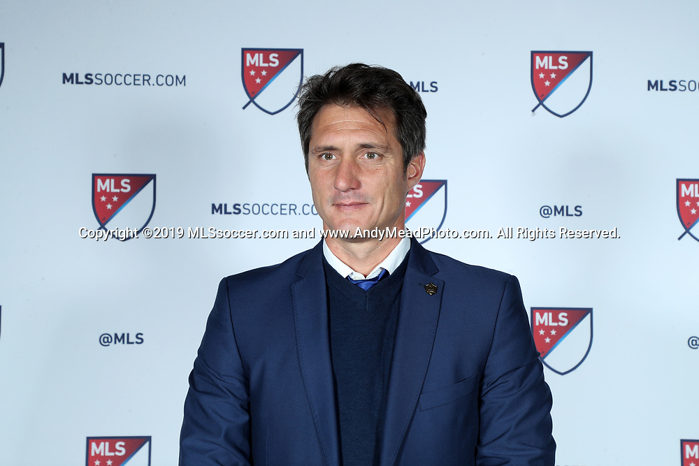 CHICAGO, IL - JANUARY 11: Los Angeles Galaxy head coach Guillermo Barros Schelotto. The MLS SuperDraft 2019 presented by adidas was held on January 11, 2019 at McCormick Place in Chicago, IL.