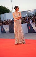 Model Hilary Rhoda at the gala screening for the film Spotlight at the 72nd Venice Film Festival, Thursday September 3rd 2015, Venice Lido, Italy.
