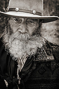 A portrait of a Mountain Man at one of northern Utah's annual rendezvous.