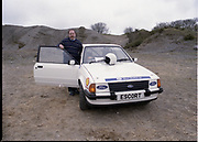 Ford Rally Search 84. 16th and 17th April 1984 at Red Bog Quarry Blessington County Wicklow. Young People Participating in Rally Test, 147 contestants, and presentation. Red Bog Quarry near Blessing Co Wicklow. Ford Escort MK 3 Rally Cars, Sierra Estate A615DWC, Transcontential 4432 6x4 EVX8Y,