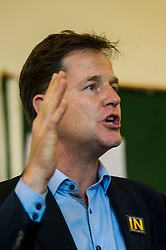Pictured: Nick Clegg<br /> <br /> Scottish Labour leader  Kezia Dugdale MSP  joined Scottish Greens Sarah-Beattie Smith, Conservative Jackson Carlop, SNP's Steven Geffins MP along with  Liberal Democrats Nick Clegg and Willie Rennie at the European Movement for Scotland rally in Edinburgh today.<br /> Ger Harley | EEm 16 June 2016