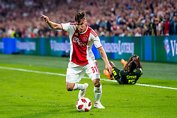 14-08-2018 NED: Champions League AFC Ajax - Standard de Liege, Amsterdam<br /> Third Qualifying Round,  3-0 victory Ajax during the UEFA Champions League match between Ajax v Standard Luik at the Johan Cruijff Arena / Nicolas Tagliafico #31 of Ajax