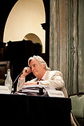 """London session of the Russel Tribunal on Palestine. """" Corporate Complicity in Israel's violations in international human rights law and international humanitarian law"""". Michael Mansfield QC is giving evidence."""