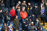 Ex-BBC Top Gear presenter Jeremy Clarkson © is seen watching the match from the stands. Barclays Premier league match, Chelsea v Everton at Stamford Bridge in London on Saturday 16th January 2016.<br /> pic by John Patrick Fletcher, Andrew Orchard sports photography.