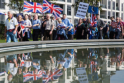 London, UK. 29th March, 2019. Pro-Brexit activists from Leave Means Leave march from Fulham to a rally in Parliament Square in Westminster on the final leg of the March to Leave on the day on which the UK was originally to have left the European Union. The March to Leave was organised by Leave Means Leave, with assistance from Nigel Farage, as a peaceful protest 'to demonstrate the depth and breadth of popular discontent with the way Brexit has been handled' by the Government.