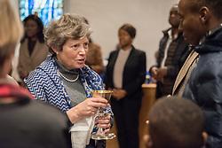 24 November 2019, Geneva, Switzerland: Vicky Maltby distributed wine during holy communion as part of Sunday service at the Emmanuel Episcopal Church, Geneva.