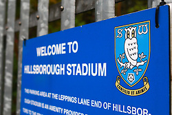 A general view of Hillsborough Stadium, home to Sheffield Wednesday - Mandatory by-line: Ryan Crockett/JMP - 03/10/2020 - FOOTBALL - Hillsborough - Sheffield, England - Sheffield Wednesday v Queens Park Rangers - Sky Bet Championship