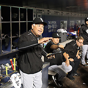 NEW YORK, NEW YORK - May 31:  Bench coach Rick Renteria #17 of the Chicago White Sox in the dugout during the Chicago White Sox Vs New York Mets regular season MLB game at Citi Field on May 31, 2016 in New York City. (Photo by Tim Clayton/Corbis via Getty Images)