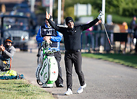 Golf - 2021 Alfred Dunhill Links Championship - Day Four - The Old Course at St Andrew's - Day Four -  Sunday 3rd October 2021<br /> <br /> Adrian Otaegui chips in from the road on the 17th<br /> <br /> Credit: COLORSPORT/Bruce White
