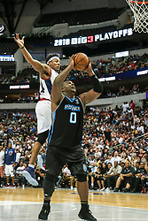 August 17, 2018 - Dallas, TX, U.S. - DALLAS, TX - AUGUST 17: Power Glen Davis #0 goes up for a lay-up as Tri-State David Hawkins #34 tries to swat the ball away during the Big 3 Basketball playoff game between the Power and the Tri-State on August 17, 2018 at the American Airlines Center in Dallas, Texas. Power defeats Tri-State 51-49. (Photo by Matthew Pearce/Icon Sportswire) (Credit Image: © Matthew Pearce/Icon SMI via ZUMA Press)
