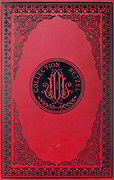 Book cover of the French addition of the book ' Mistress Branican ' by Jules Verne Publish by J. Hetzel in Paris in 1891 with illustrations by <br /> Leon Benett