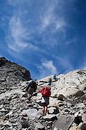 Sul sentiero che congiunge la Val Bona (Valmalenco) alla valle del Forno in Svizzera