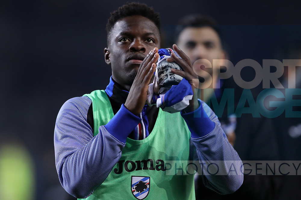 Ronaldo Vieira of Sampdoria applauds the fans after the final whistle of the Serie A match at Stadio Grande Torino, Turin. Picture date: 8th February 2020. Picture credit should read: Jonathan Moscrop/Sportimage
