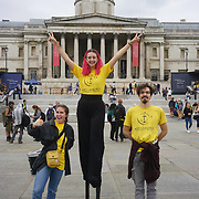 People of all age protest of the Climate change. The impossible rebellion, be ready to move, and prepare to stay, till our demands are met march for Trafalgar square and sitin Convent Garden on 2021-08-23, London, UK.