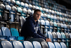 © Licensed to London News Pictures . 16/10/2019. Manchester , UK . Manchester City Academy player TAYLOR HARWOOD-BELLIS (17) posing for photos at the Manchester City Academy Stadium . Photo credit : Joel Goodman/LNP