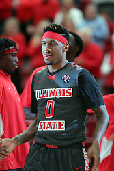 08 November 2015: Nick Banyard(0). Illinois State Redbirds host the Southern Indiana Screaming Eagles and beat them 88-81 in an exhibition game at Redbird Arena in Normal Illinois (Photo by Alan Look)