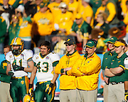 North Dakota State Bison head coach Craig Bohl watches from the sideline during the FCS title game against Sam Houston State at FC Dallas Stadium in Frisco, Texas, on January 5, 2013.  (Stan Olszewski/The Dallas Morning News)