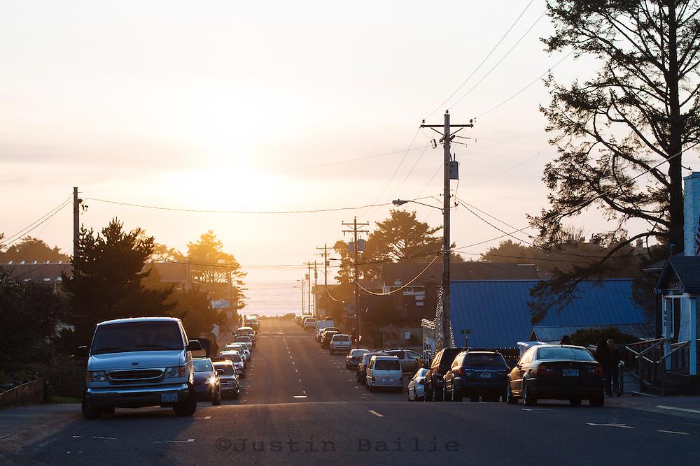 Scenic image of downtown Manzanita, Oregon.