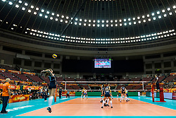 10-10-2018 JPN: World Championship Volleyball Women day 11, Nagoya<br /> Netherlands - Brazil 2-3 / Juliet Lohuis #7 of Netherlands