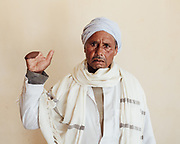 Espeg Nagi Salowma was injured in the desert near El Alamein in 2006. He and another man made a fire one night and inadvertently detonated unexpolded ordnance buried in the sand beneath it. Espeg can no longer find work but friends help him financially.