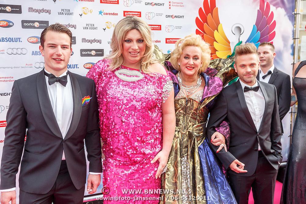 NLD/Amsterdam/20150629 - Uitreiking Rainbow Awards 2015, oragnisatie ......... mayday en Karin Bloemen en Peter van der Vlugt