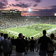 UCF fans watch the band play prior to an NCAA football game between the Boston College Eagles and the UCF Knights at Bright House Networks Stadium on Saturday, September 10, 2011 in Orlando, Florida. (AP Photo/Alex Menendez)