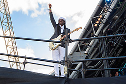 Nile Rodgers performing with Chic on the Pyramid Stage during the Glastonbury Festival at Worthy Farm in Pilton, Somerset. Picture date: Sunday June 25th 2017. Photo credit should read: Matt Crossick/ EMPICS Entertainment.
