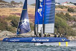 Practice before ACWS Gothenburg. Artemis Racing. 27th of August, 2015, Gothenburg, Sweden
