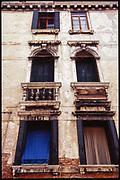 Rustic Windows, Venice, Italy