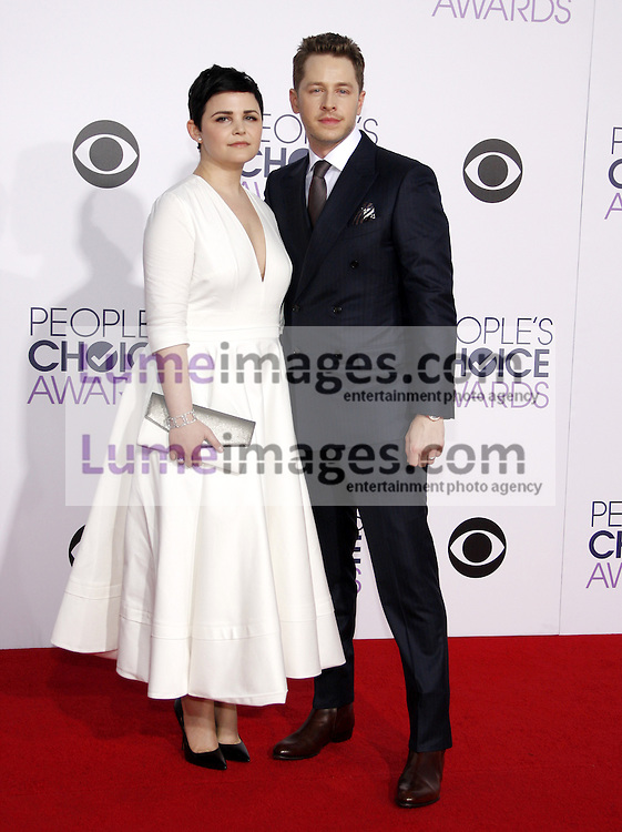 Ginnifer Goodwin and Josh Dallas at the 41st Annual People's Choice Awards held at the Nokia L.A. Live Theatre in Los Angeles on January 7, 2015. Credit: Lumeimages.com