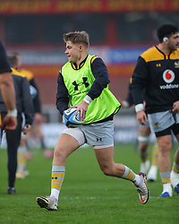 Charlie Atkinson of Wasps warms up before the match - Mandatory by-line: Nick Browning/JMP - 28/11/2020 - RUGBY - Kingsholm - Gloucester, England - Gloucester Rugby v Wasps - Gallagher Premiership Rugby