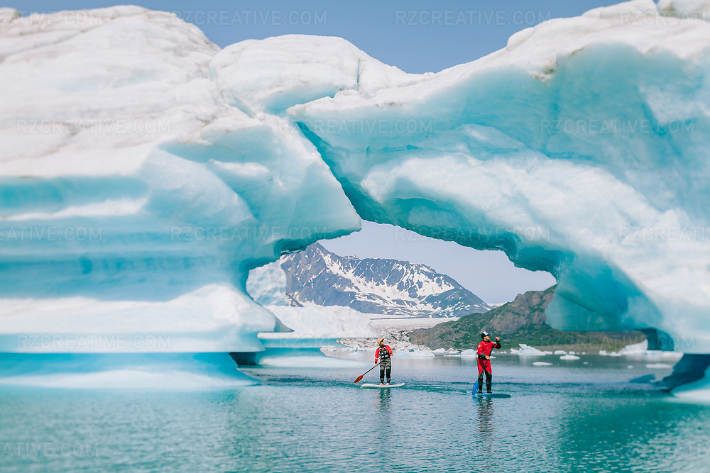 Standup paddling in Alaska's Kenai Fjords National Park. Photo © Robert Zaleski / rzcreative.com